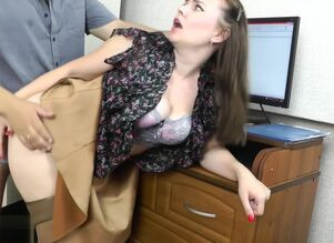 Blowjob at the office