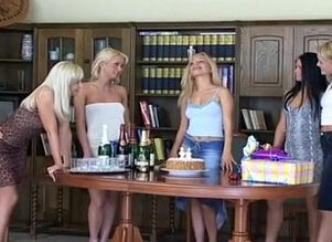 Hot blondes dancing